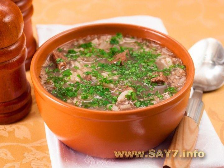суп харчо с грецкими орехами и ткемали