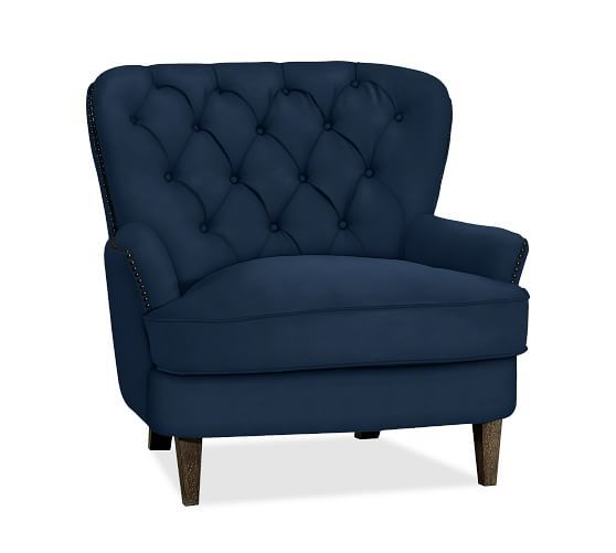 Cardiff Tufted Upholstered Armchair Pottery Barn $899