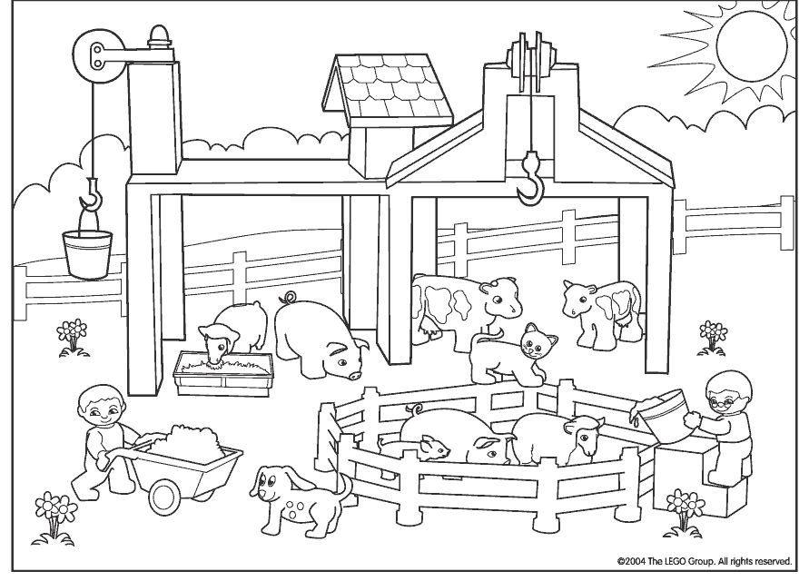 Kleurplaat Boerderij Boјanke Za Dјecu Farm Animal Crafts Farm