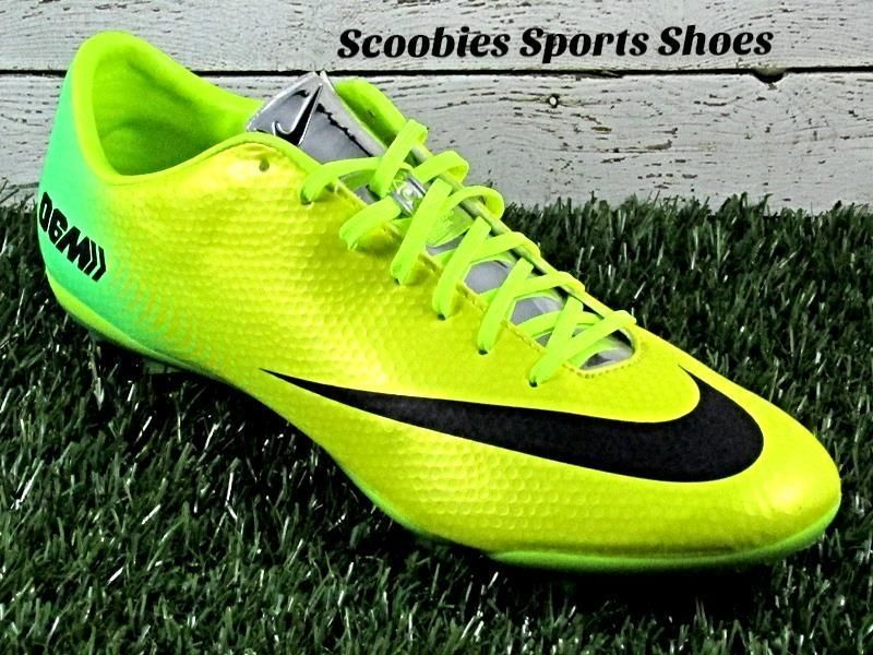 3b337d545 Nike Mercurial Vapor IX FG ACC Soccer Cleats Size 9.5 Bright  Yellow Green Silver  Nike