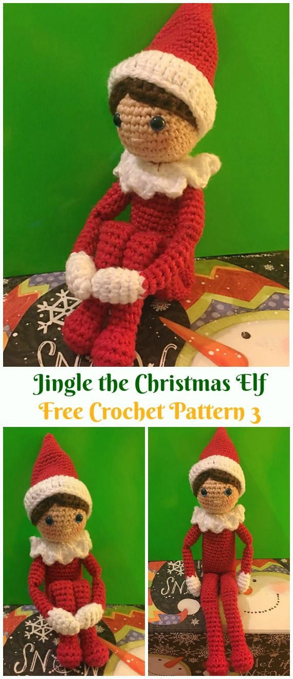 Amigurumi Christmas Elf Free Crochet Pattern | Amigurumis patrones ... | 1320x570
