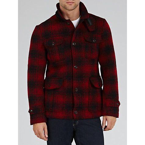 3ba7b0538ee29 Buy Woolrich John Rich & Bros. Mackenzie Wool Hunting Jacket, Red/Black  online at John Lewis