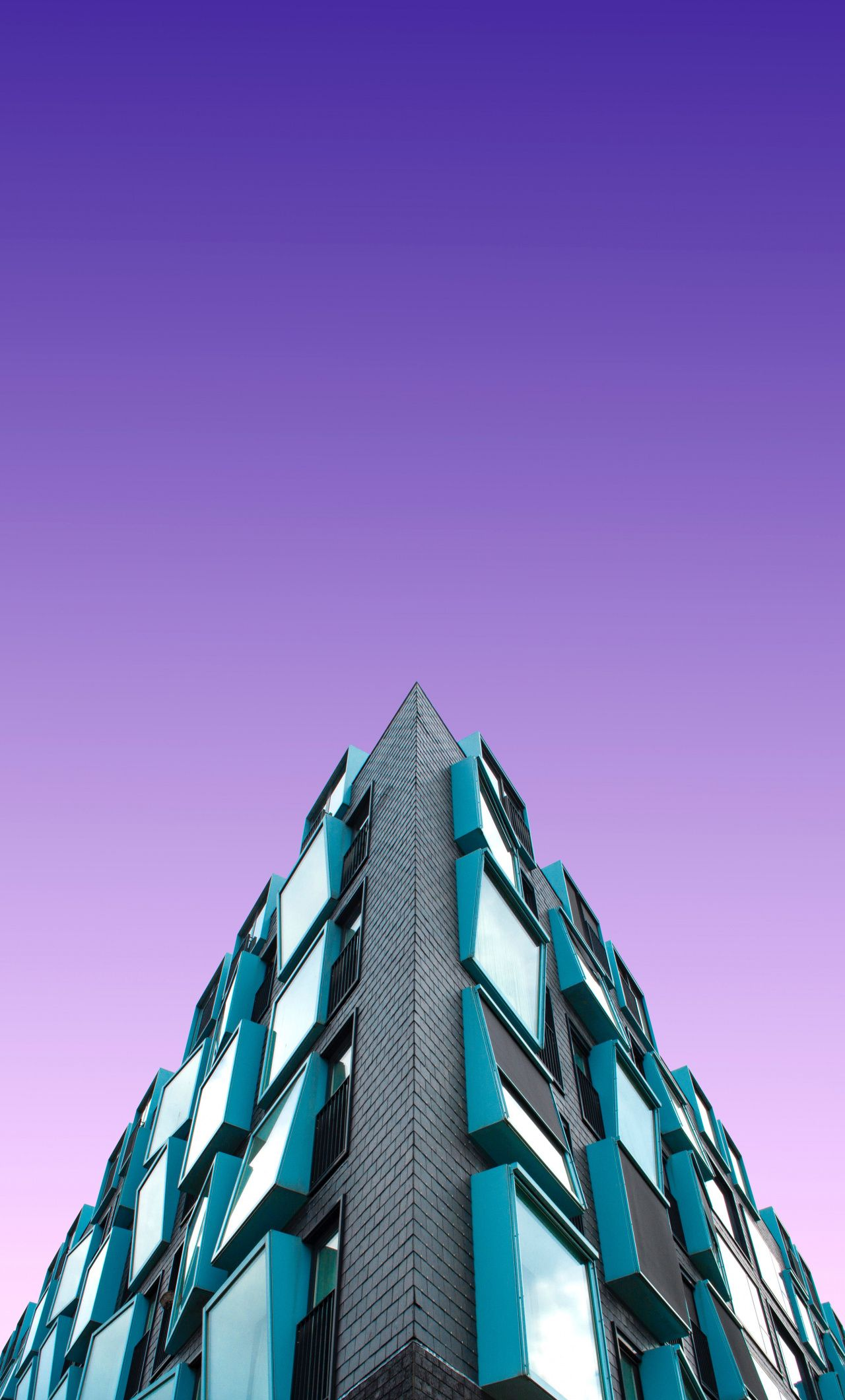 1280x2120 Building Purple Sky Architecture Wallpaper