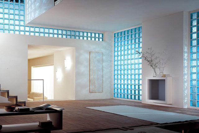 Paredes de cristal de pav s interiorismo pinterest pared cristal ladrillos de vidrio y - Decoracion con paves ...