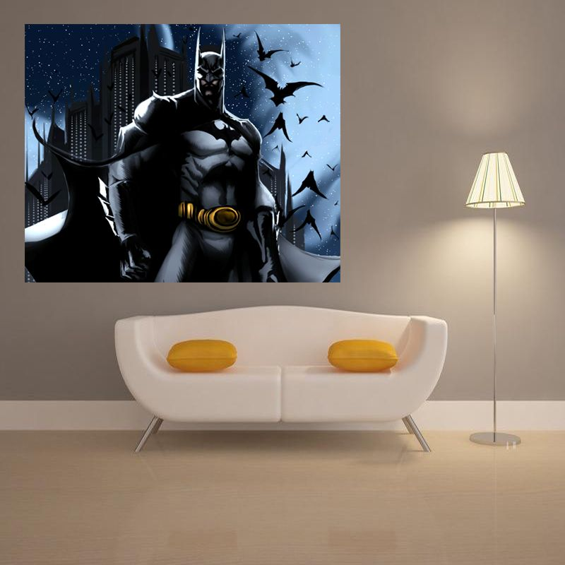 Hot Batman Movie Video Games Posters Comics Art Print Home Decoration  Waterproof Silk Fabric Poster 24x36inch