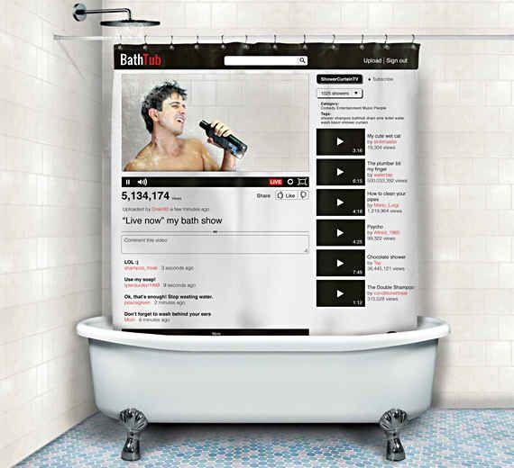 A Custom Youtube Channel Shower Curtain Bathtub Shower