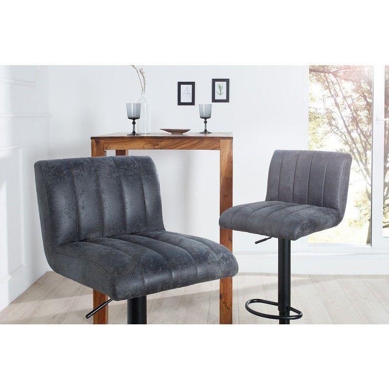 37564Barkrukken Portland Grijs Dining Barkruk Vintage Chairs 0m8nNw