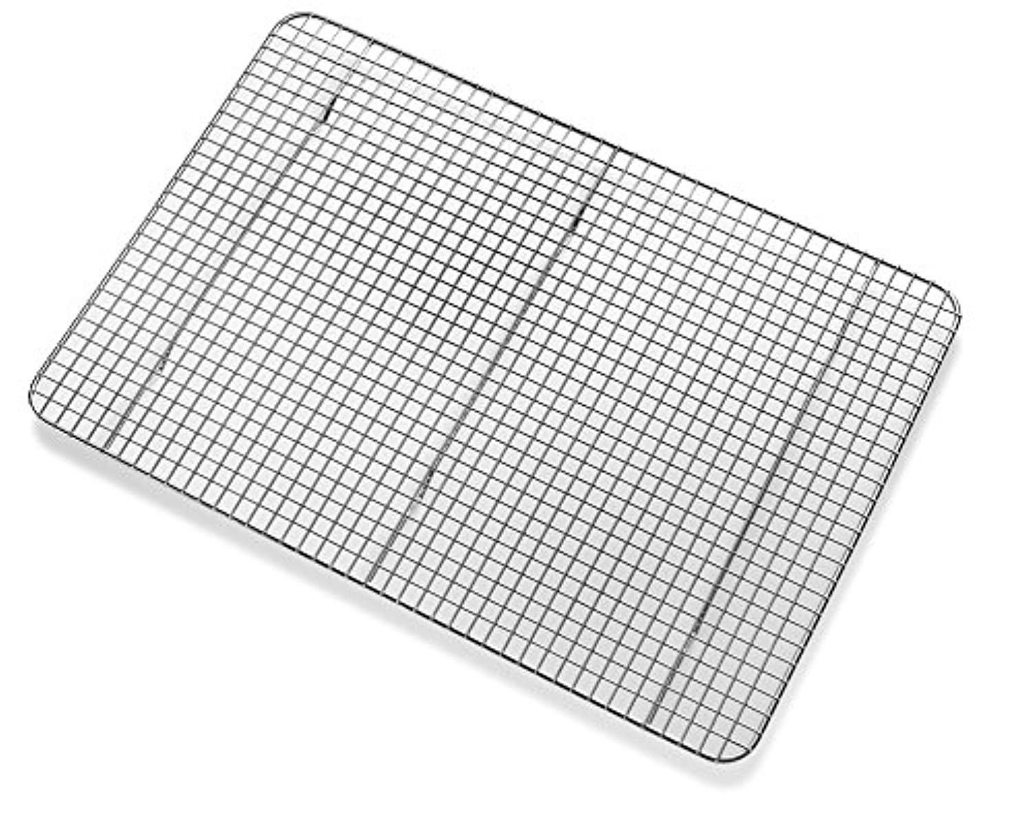 Top Rated Bellemain Cooling Rack Baking Rack Chef Quality 12 Inch X 17 Inch Tight Grid Design Oven Safe Fits