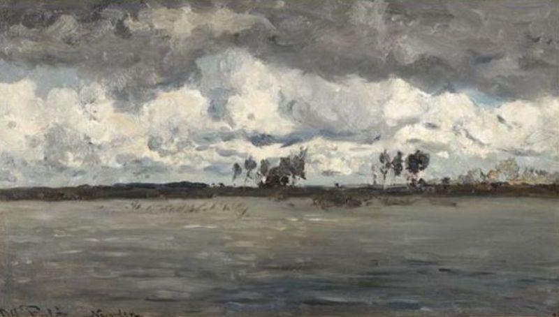 Willem Roelofs - Plas bij Noorden (1882)