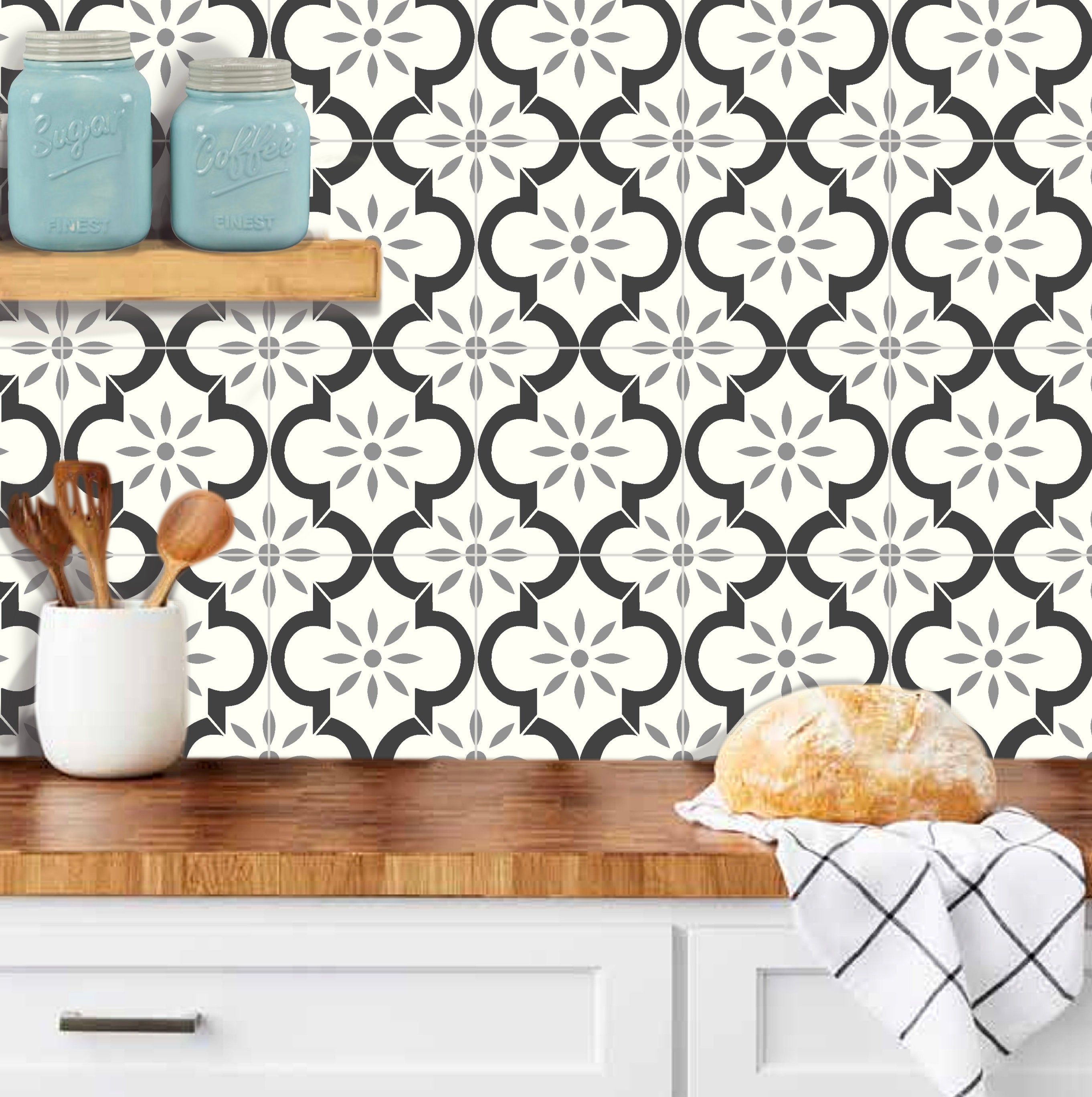 tile stickers for floor kitchen