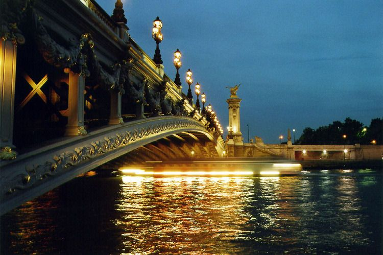 The Alexandre III Bridge in Paris.