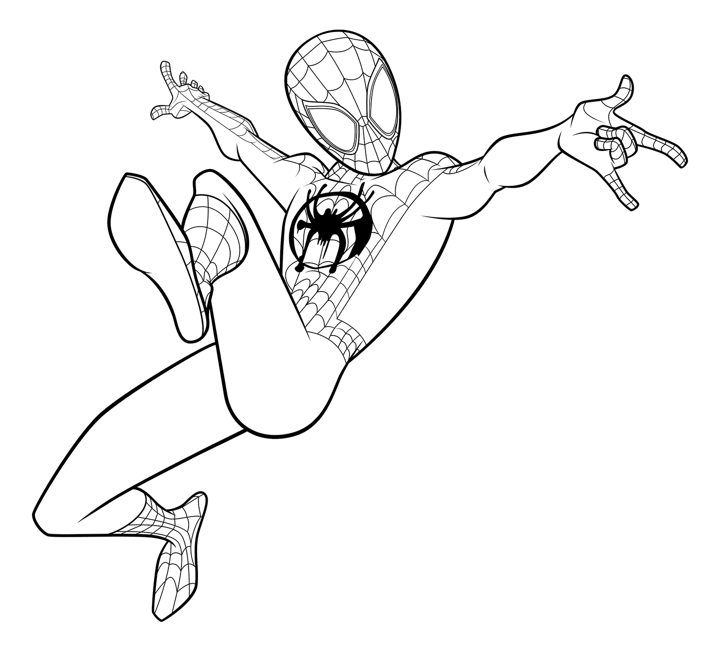 Miles Morales Spiderman Coloring Page Spiderman Coloring Miles Morales Spiderman Miles Morales