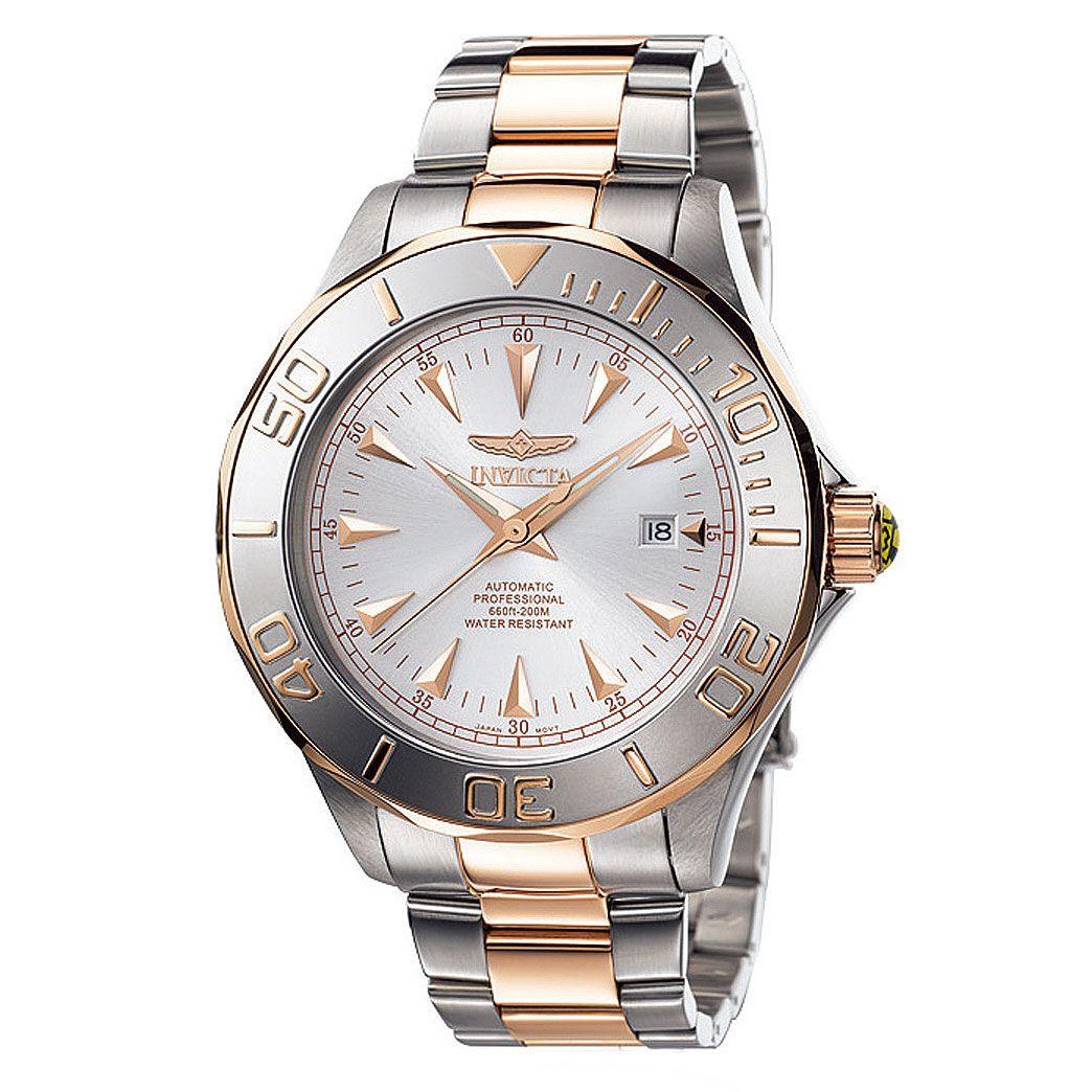 Invicta 7112 Men's Signature Pro Diver Ocean Ghost Two Tone Automatic Silver Dial Watch,