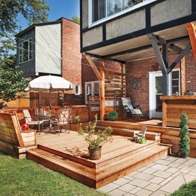 Terrasse en bois multifonction - Patio - Inspirations - Jardinage et