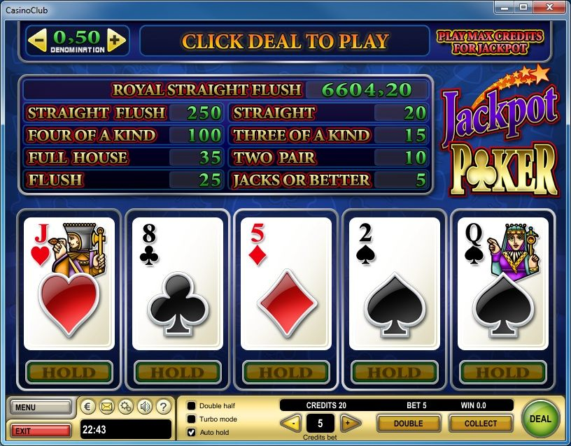 +0.5 player edge video poker jackpot Video poker
