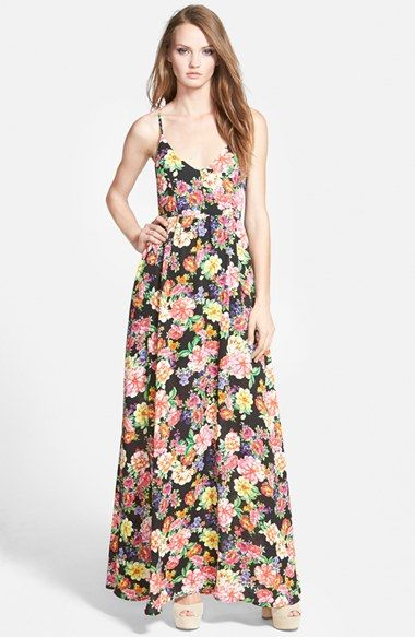 Lucca Couture Strappy Floral Maxi Dress | Dresses, Floral