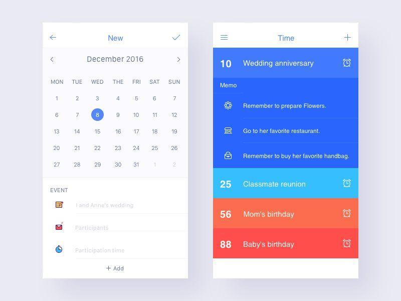Calendar Ui Design Inspiration : Stunning examples of calendar mobile app design ui