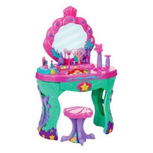 Disney Princess Vanity Set Kids Present Pretend Play Ariel Salon