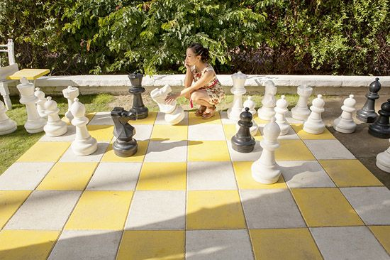 Chess board Parker Palm Springs