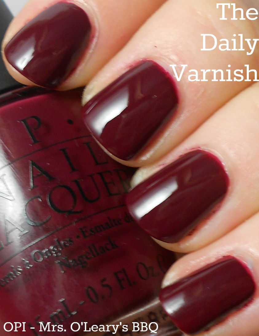 OPI Mrs O\'Leary\'s BBQ. One of the best purpley, brown, reds ...