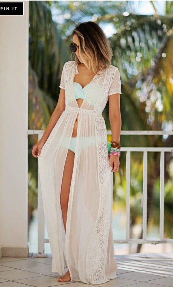9c4a30f2b05bd white maxi bikini cover up - Google Search | Outfit ideas | Pinterest |  White maxi, Swimwear and Honeymoon outfits