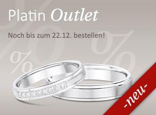 Wunderschöne Eheringe - höchste Qualität. Noch bis zum 22.12.2015 gibt es Rabatt auf ausgewählte Platin-Trauringe. #Hochzeit #Ringe