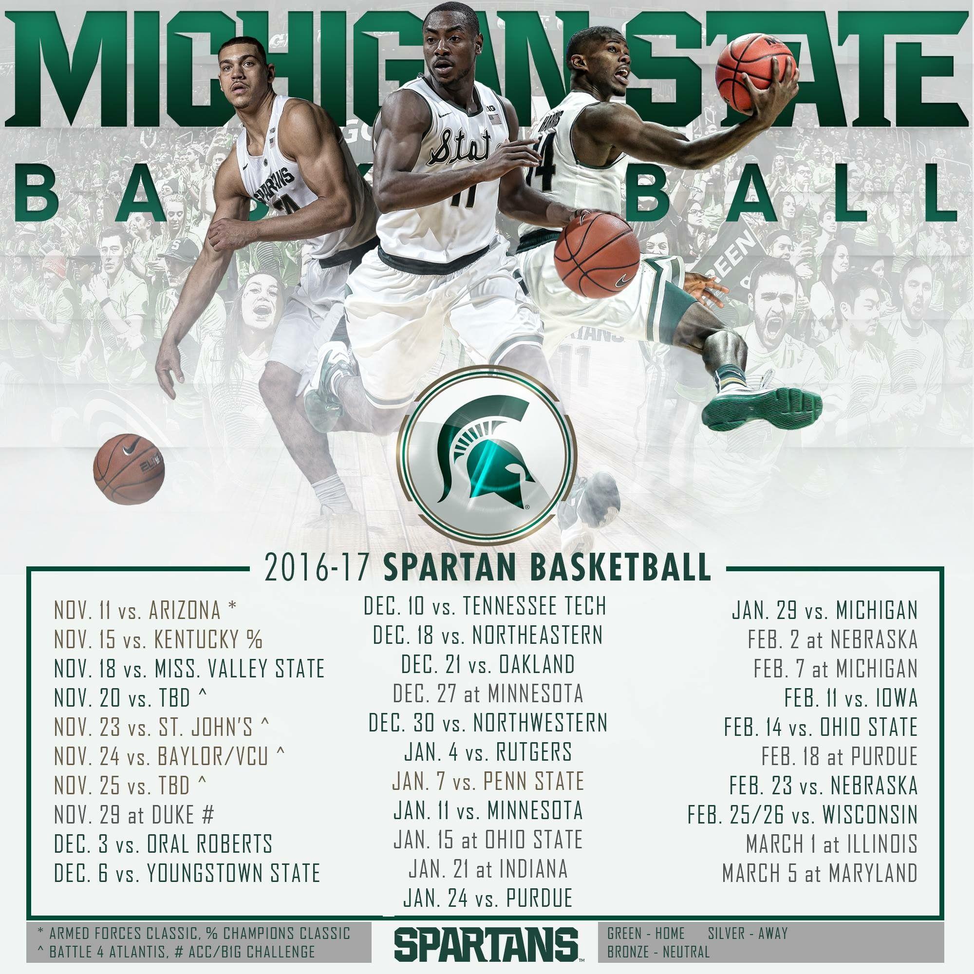 Spartan Basketball Schedule Spartan Basketball Basketball