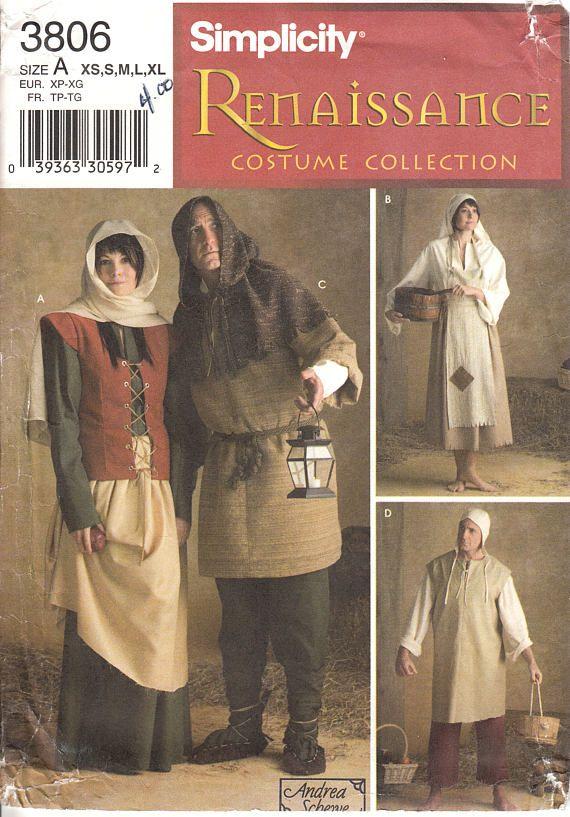 One dollar SALE UNCUT Historical Renaissance costume Size XS to Xl ...