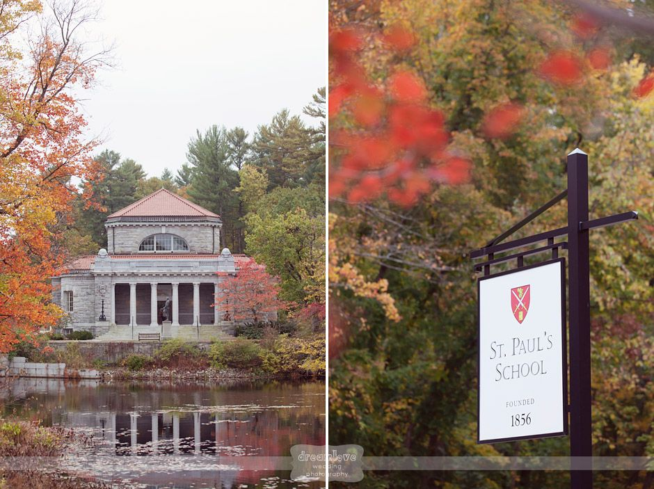 St. Paul's School in Concord, NH!  This is a private school in southern NH, but it has a gorgeous, rustic and woodsy campus!  Perfect for an outdoor wedding near one of the many ponds, fields, or small chapels!  #spsweddingvenue #concordnhwedding