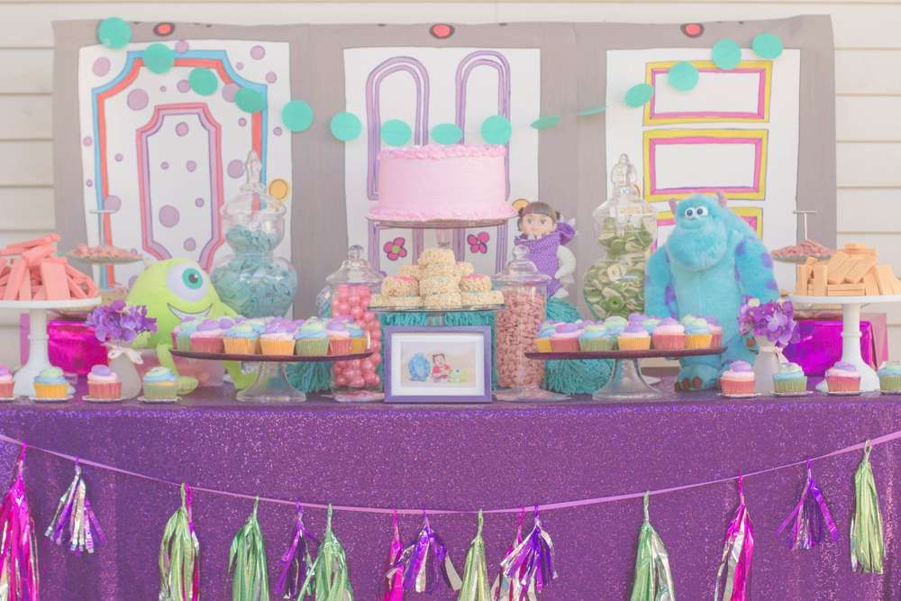 Such a cute Monster's Inc. birthday party! See more party planning ideas at CatchMyParty.com!