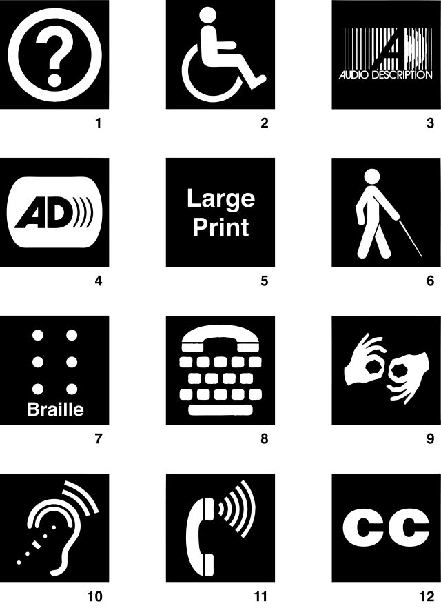 Disability Access Sign Symbols For Download Accessible Webapp