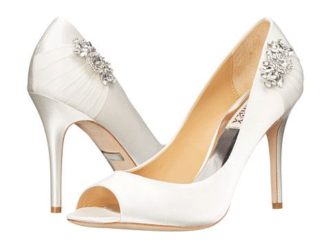 Womens Shoes Badgley Mischka Seduce White Satin