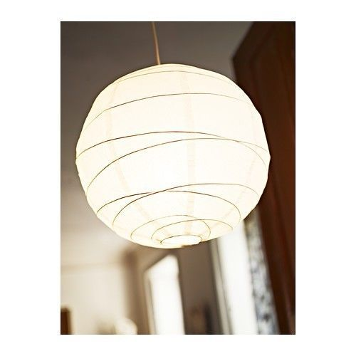 Ikea Regolit Pendant Lamp Shade Only White Rice Paper