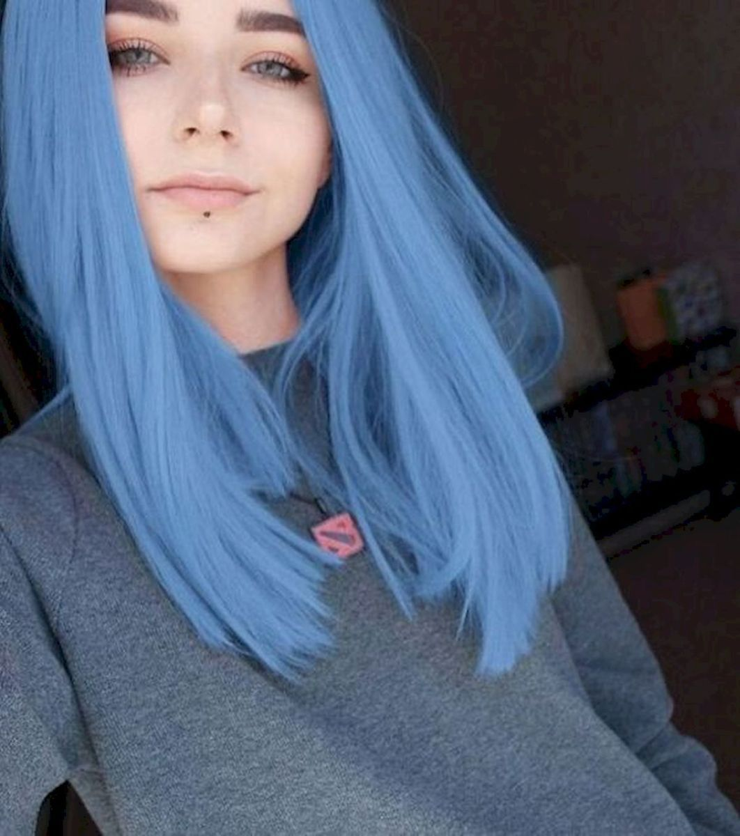80 Pretty And Attractive Blue Hair Style Sayfa 7 21 In 2020