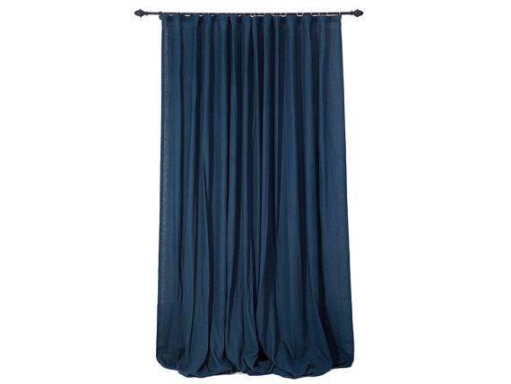 Linen Window Drapes 16 Colors Ripple Fold Wave Curtains Linen
