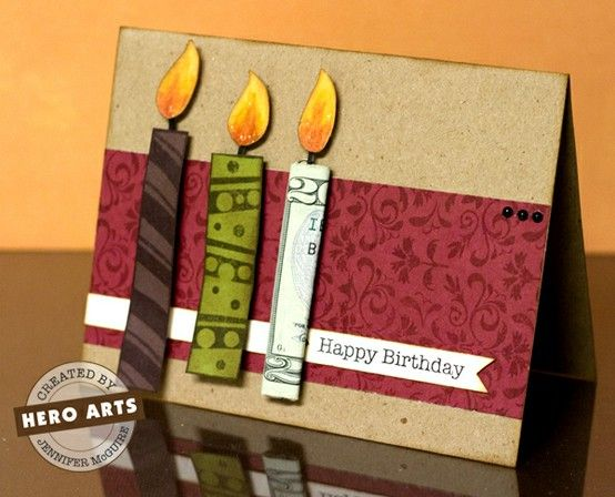 Older And Wisor Money Cards Cards Handmade Scrapbook Cards