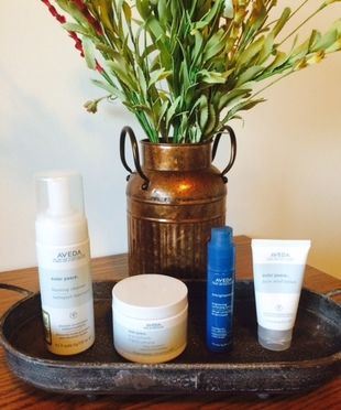 Aveda's Acne Outer Peace Line has significantly cleared up our active breakouts and acne scars! #acne #breakouts #pimples #clear #skin #bright #beautiful #healthy