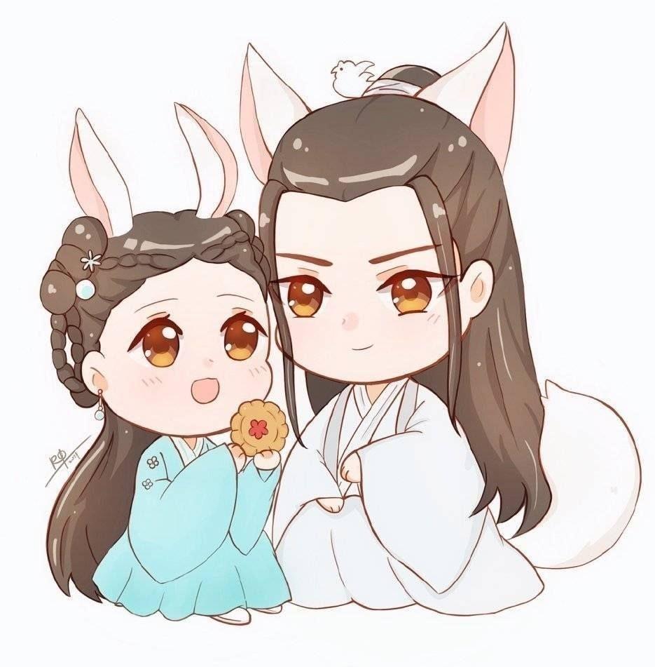 Chibi Tiểu Xuân Hoa & Thượng Quan Thu Nguyệt | Anime, Đang yêu, Ảnh hoạt hình  chibi