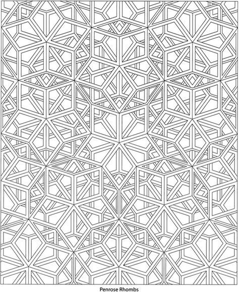 dover coloring book geoscapes - Google Search | Coloring Pages ...