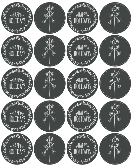 Free holiday labels chalkboard style. | Chalkboard labels and ...