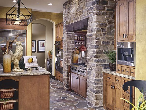 Attractive Create A Rustic Kitchen Design With The Help Of Stone Veneers