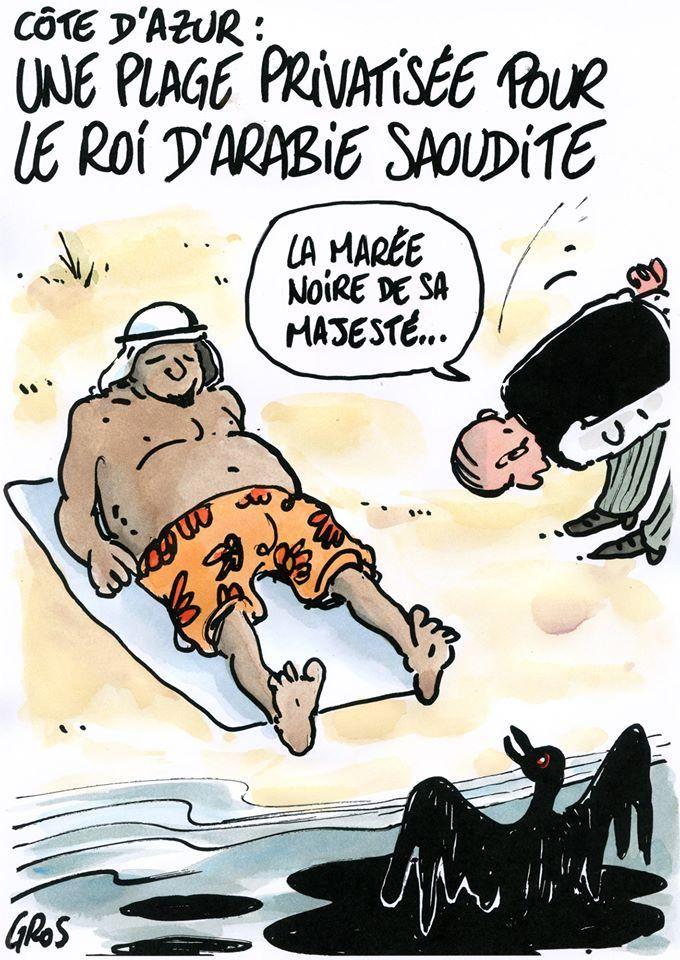 Une plage de la Côte d'Azur a été privatisée pour le roi d'Arabie Saoudite. (Par @GrosPascal)
