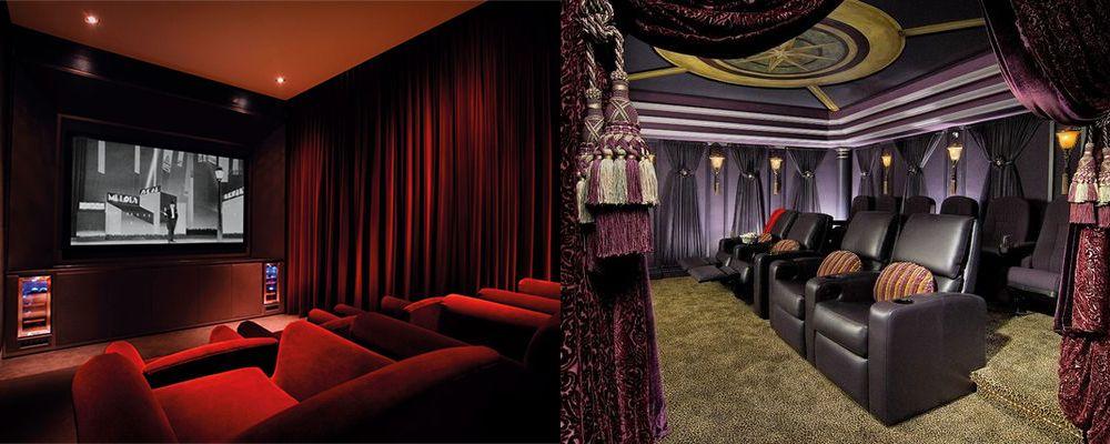 Heimkino-Design Fotos und Tipps für den Theaterraum-Dekor Theater