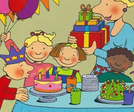 Afbeeldingsresultaat voor prent verjaardag vieren