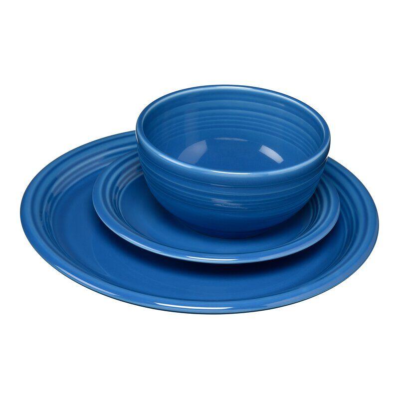 Bistro 3 Piece Place Setting Service For 1 Bistro Set 3 Piece Bistro Set Ceramic Dinnerware Set