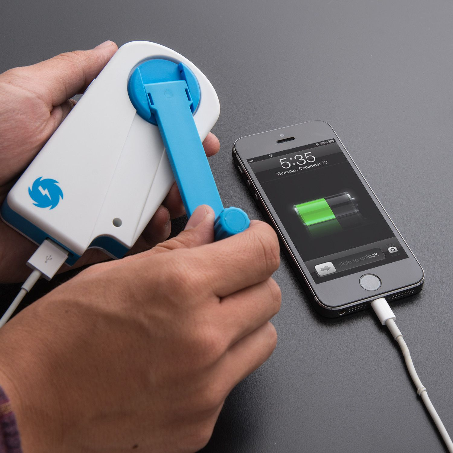 Don't get caught without power with SOS charger, you can generate power anywhere simply…
