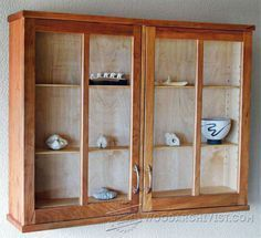 817 Cherry Display Cabinet Plans Furniture And Projects Woodarchivist