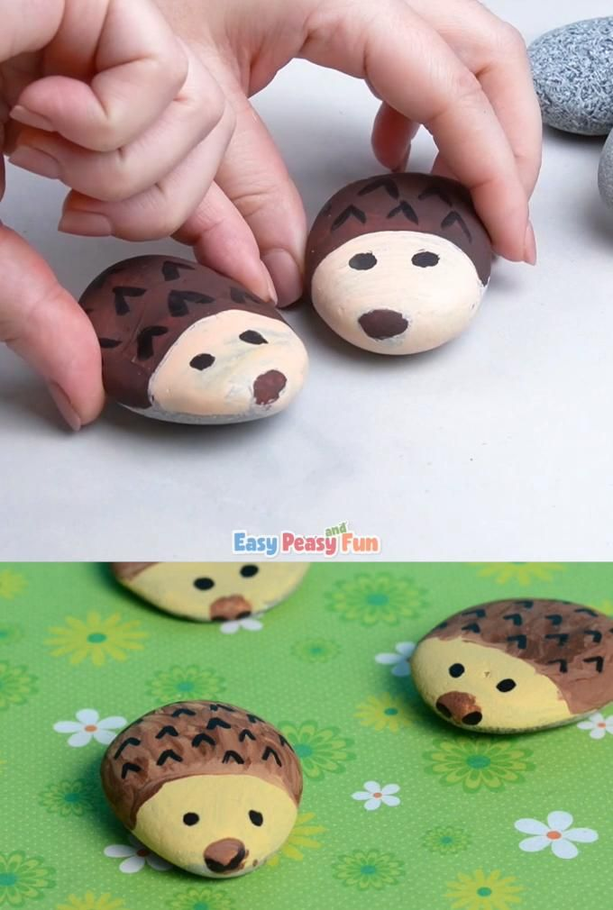 Photo of Hedgehog Painted Rocks – Rock Crafts for Kids