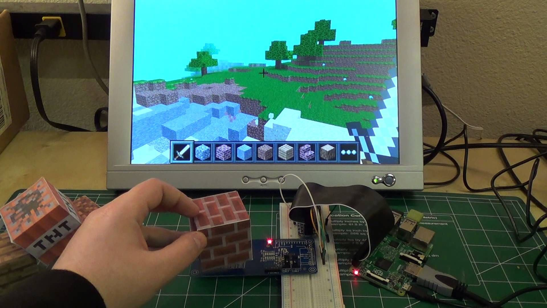 Preview of Raspberry Pi Minecraft Blocks With NFC Project