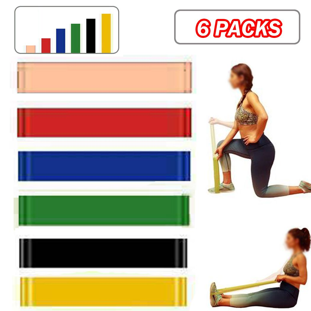 BootyBands Resistance Bands Loop Set of 4 Exercise Workout CrossFit Fitness yoga